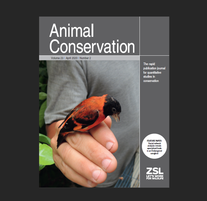Feature paper and cover in Animal Conservation