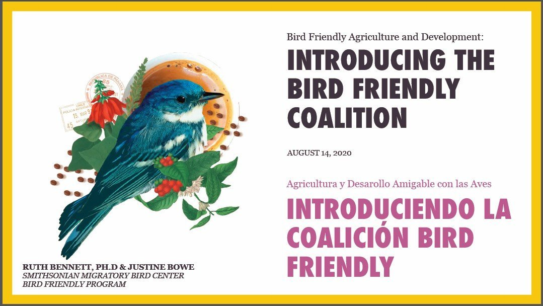 Red Siskin Initiative joins The Bird-Friendly Coalition!